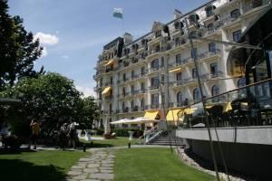 Das Nobelhotel Beau-Rivage-Palace.