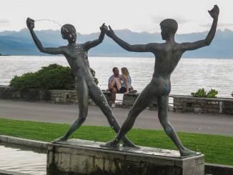 Blick auf den Genfer See.