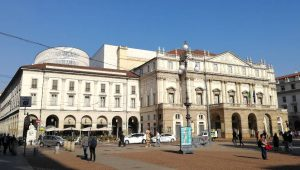 Das berühmte Opernhaus Teatro alla Scala