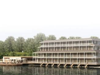 """Das Hotel """"Insel der Sinne"""" liegt direkt am Berzdorfer See."""