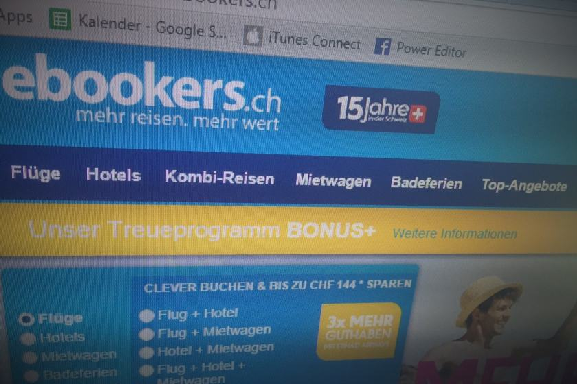 Screenshot - ebookers.ch