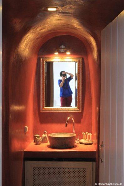 Blick in das Bad in der White Pearl Villa