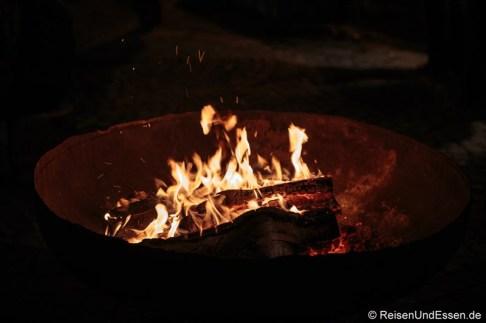 Feuerstelle in Velden