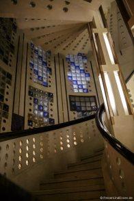 Art Deco Treppenaufgang im Haus Atlantis