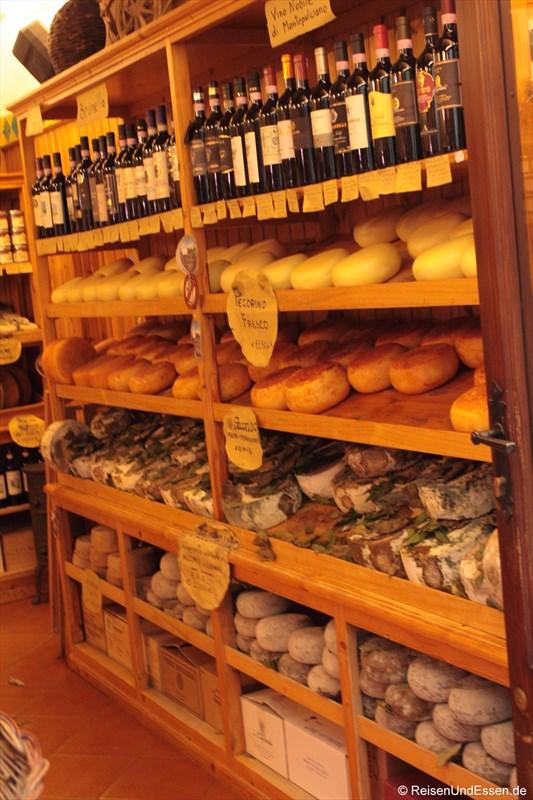Laden in Pienza