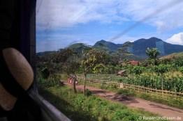 Fahrt durch grüne Landschaften