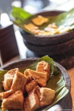 Tofu beim Frühstück im Hotel Santika Premiere Gubeng Surabaya