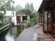 Garten des Rock&Wood Hostels
