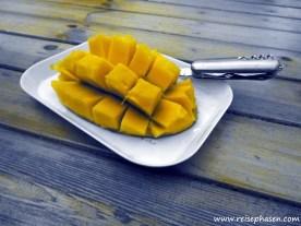 Perfekt aufgeschnittene Mango!