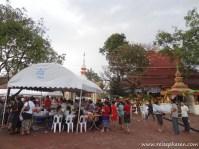 Fest beim Tempel Pha That Luang
