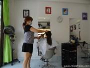 Lisa's erster Frisörbesuch nach über einem Jahr
