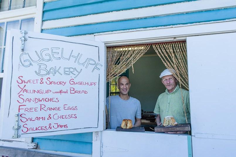 Die Verkaufsklappe der Gugellhupfbäckerei von Yallingup