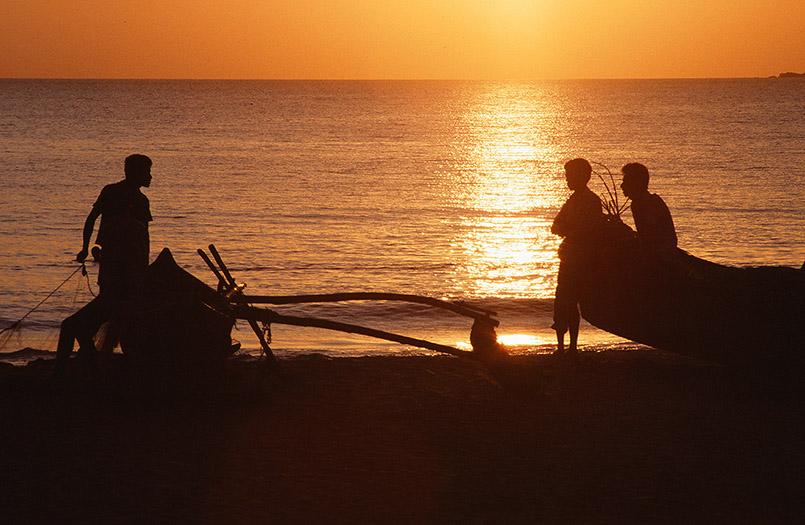 Sonnenuntergang am Calangute-Strand