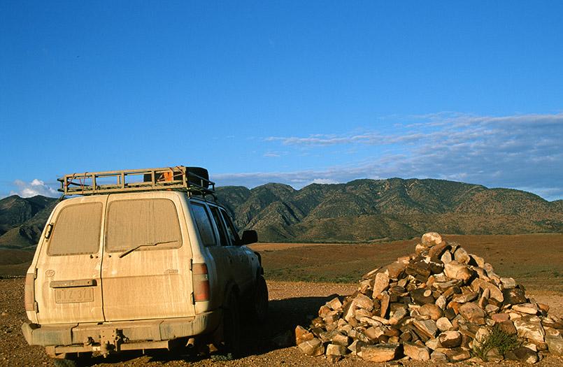 "bei Leigh Creek/Outback: Blick auf die ""Flatirons"", Puttapa."