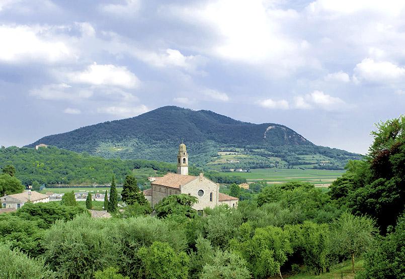 Die Umgebung von Arquà Petrarca