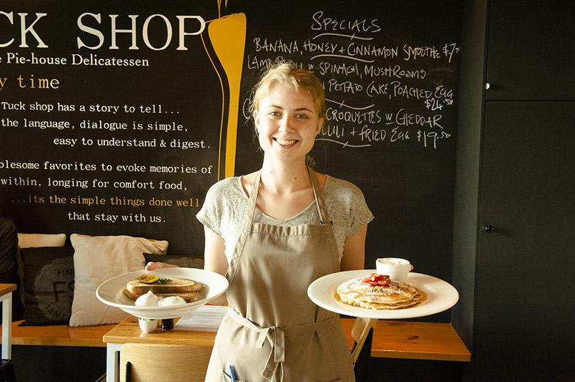 Nina vom Tuck Shop Café in Perth