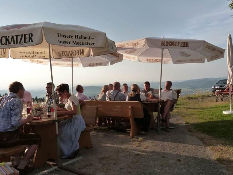 Biergarten des Berggasthofs Vordere Fluh