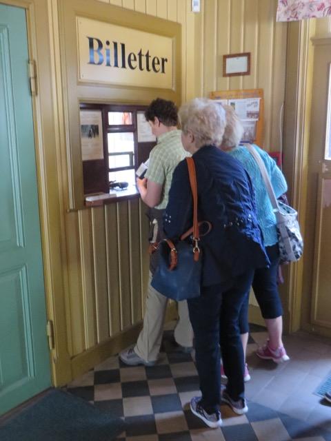 Ticketschalter Dampfeisenbahn Krøderen