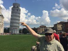 Das typische Touristenbild vom schiefen Turm