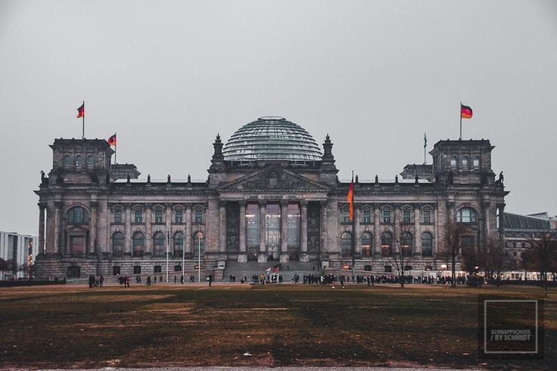 Reichtagsgebäude, der Sitz des Bundestages in Berlin