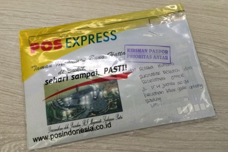 kirim paspor via pos