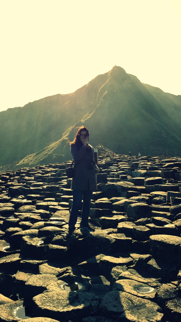 Hier sta ik op de Giant's Causeway, Noord-Ierland