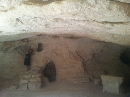 In de grot in Bethlehem