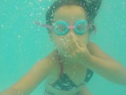 Onder water selfie