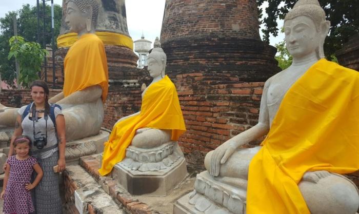 Nikki en ik in Ayutthaya