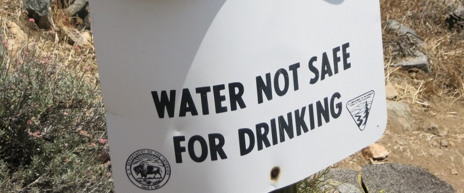 Sign water