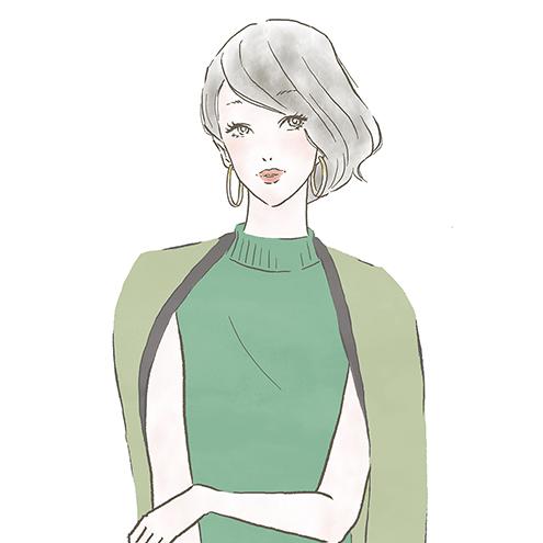 こなれヘアの女性 ららぽーと ラゾーナ のファッションwebマガジン Kikonas で イラストを描かせていただきました Reism I