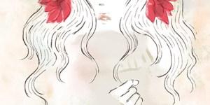 ダリアの花を髪につけた女性 イラスト 女性 ファッション 広告 web  美容  イラストレーター イラストレーション おしゃれ dahlia illustration fashionillustration woman illustrator イラストレーターreism・i(リズム)
