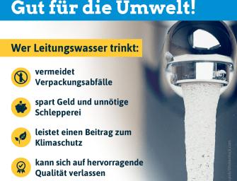 Leitungswasser: Gut für die Umwelt!