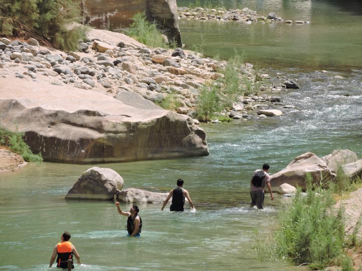 wadi mujib hike jordanië