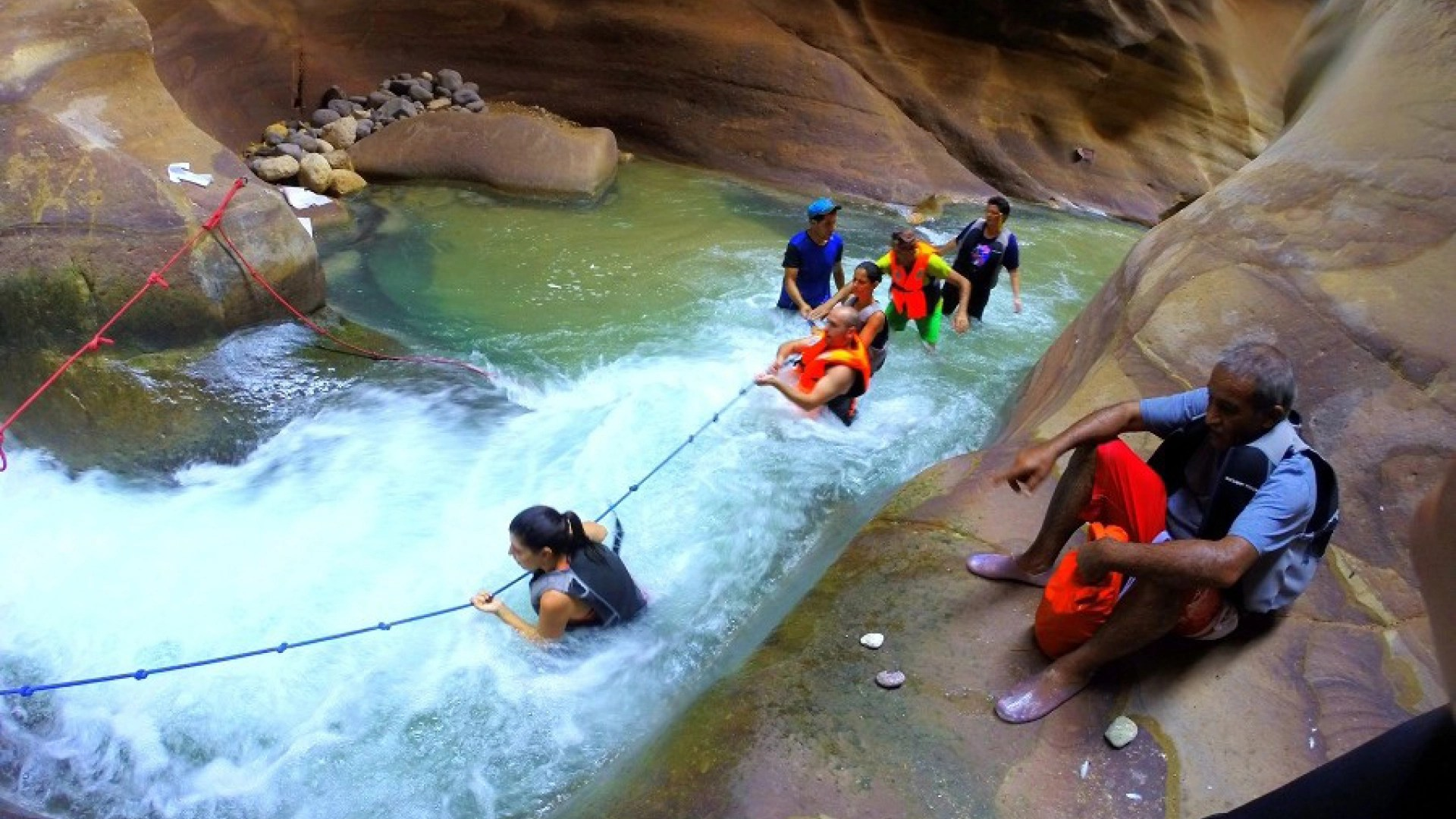 wadi mujib hike trail jordanië