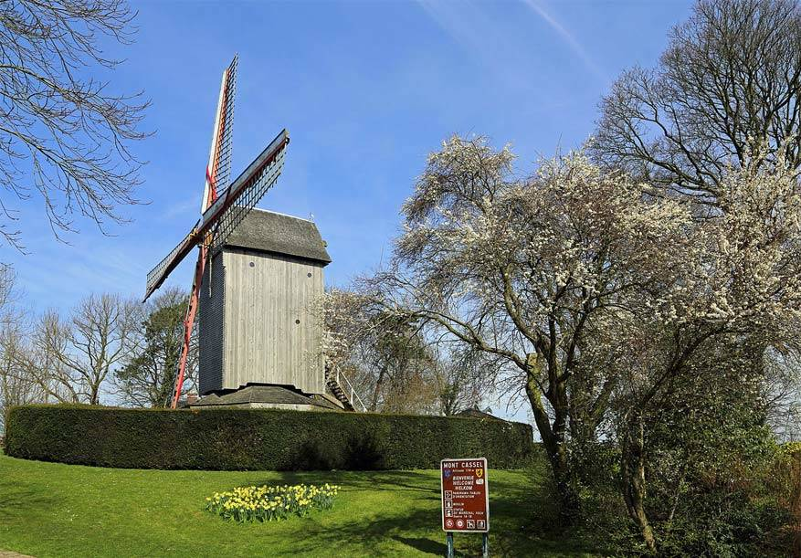 De windmolen op de Mont Cassel. © Flickr