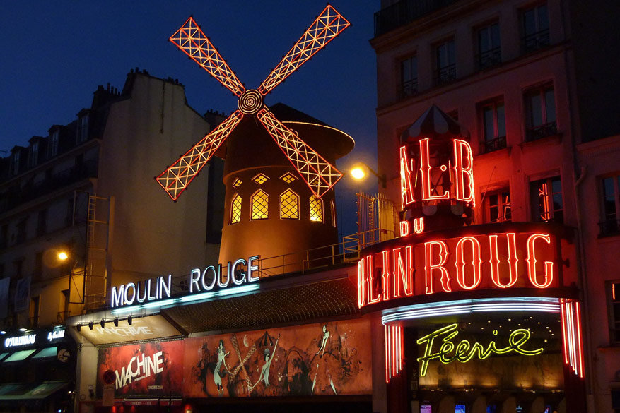 De Moulin Rouge, icoon in Parijs. © Pixabay