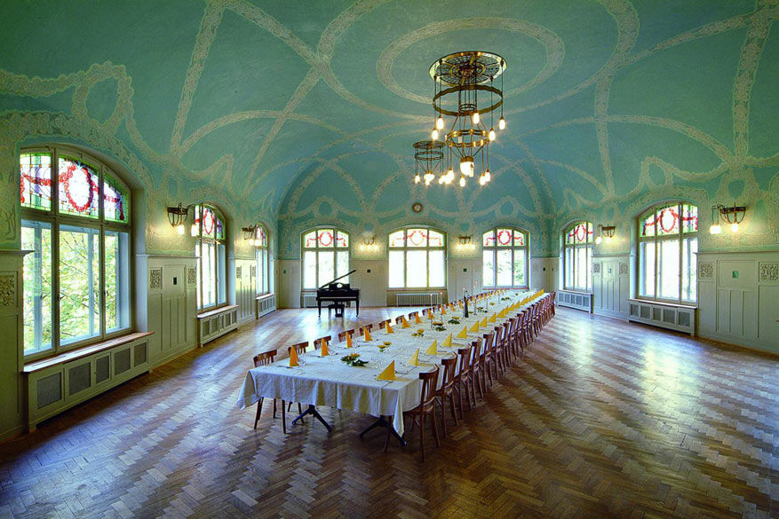 Het interieur van Kurhaus Bergün stralen heel wat authenticiteit en grandeur uit. © Kurhaus Bergün