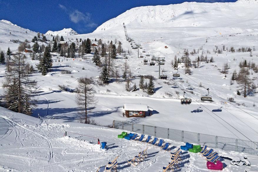 Wie veel wil skiën, maar evenveel wil genieten van een pauze is hier aan het juiste adres! © Bruno Loockx
