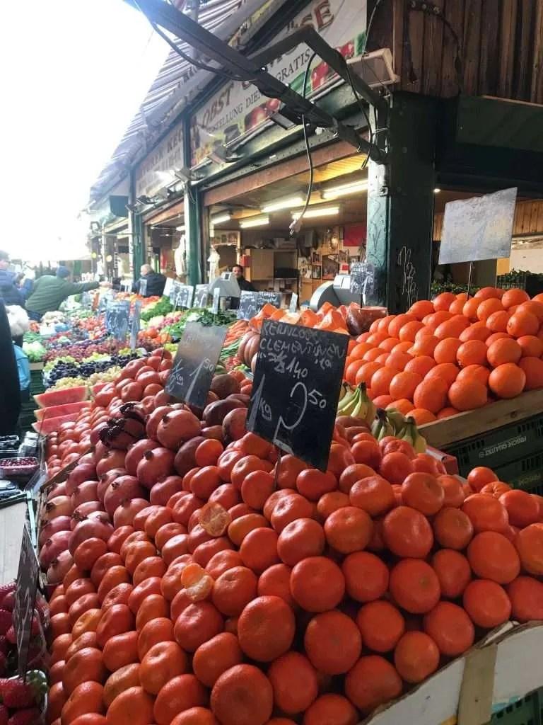 Wenen markt fruit groente