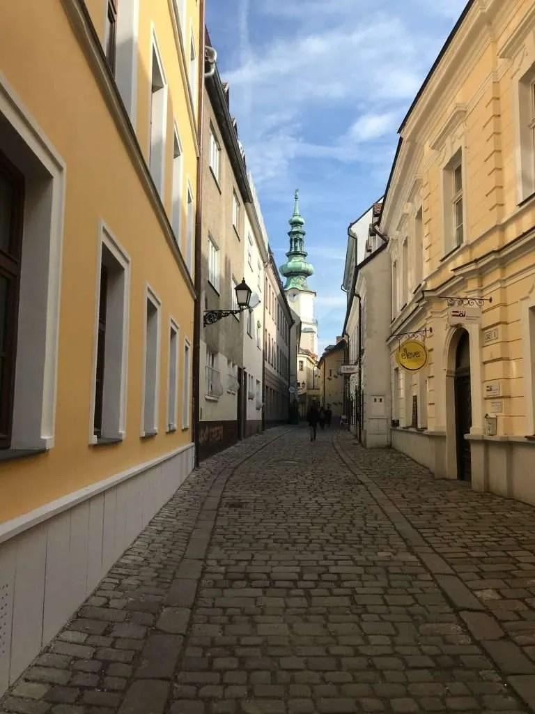 streets Bratislava Slowakije view
