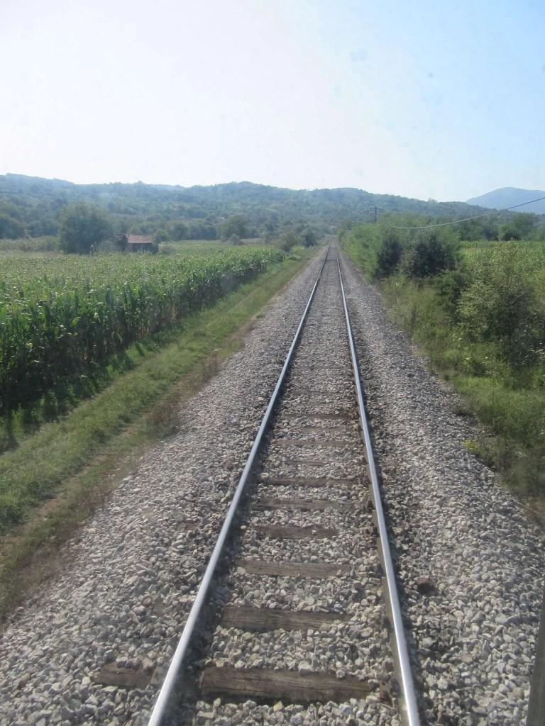 Spoor railway trein Servië