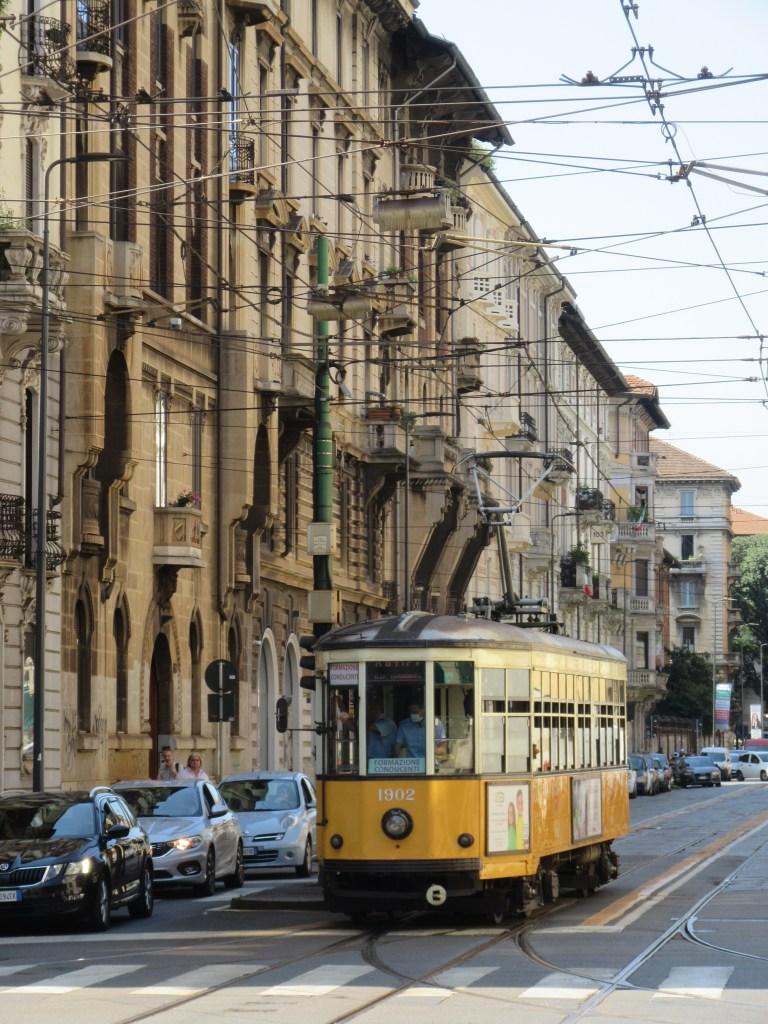 De straten van Milaan, tram