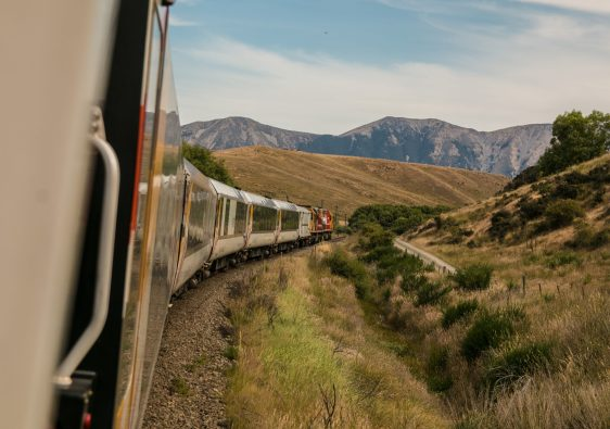 Train in the mountains