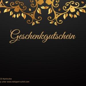 Geschenkgutschein Schwarz/Gold