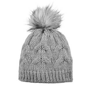 Pikeur Mütze mit Bommel grau