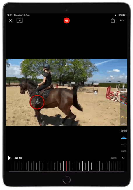 REITTV online horse riduíng training with Ipad