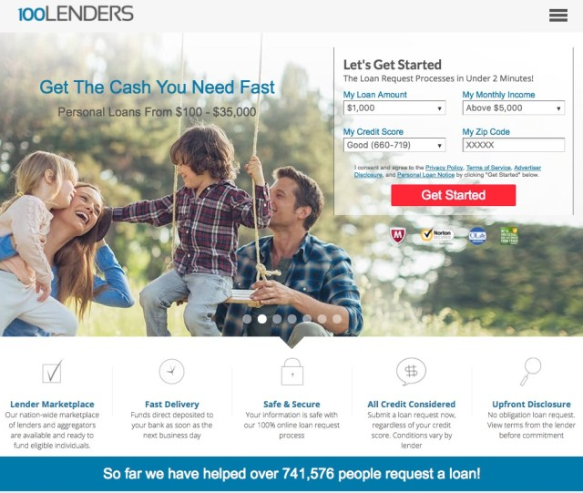 100lenders.com
