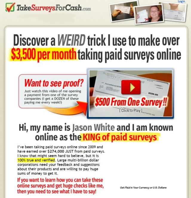 takesurveys-forcash.com - Take Surveys for Cash