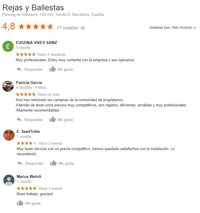 opiniones clientes